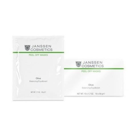 Janssen Peel off Mask: Альгинатная омолаживающая маска для лица с маслом оливы (Olive-Hydration), 1*30г