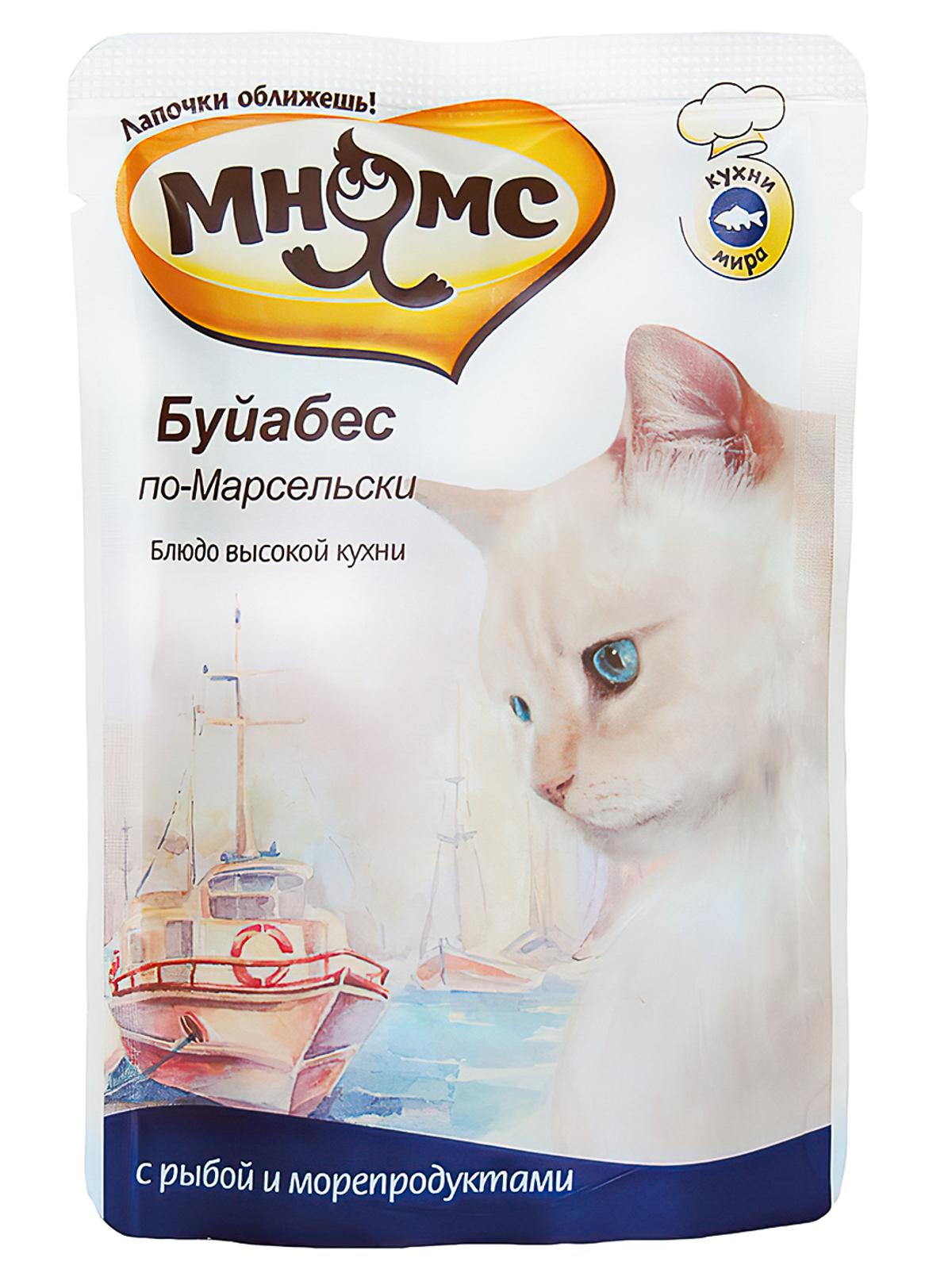 Мнямс Пауч для кошек Мнямс  Буйабес по-Марсельски (рыба с морепродуктами) 700460_1.jpg