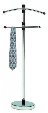 Вешалка для одежды напольная костюмная СН-4206 хром, темный орех
