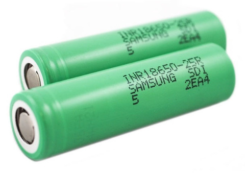 Аккумуляторы 18650 Samsung INR18650-25R 2500mAh (20A) Зеленые