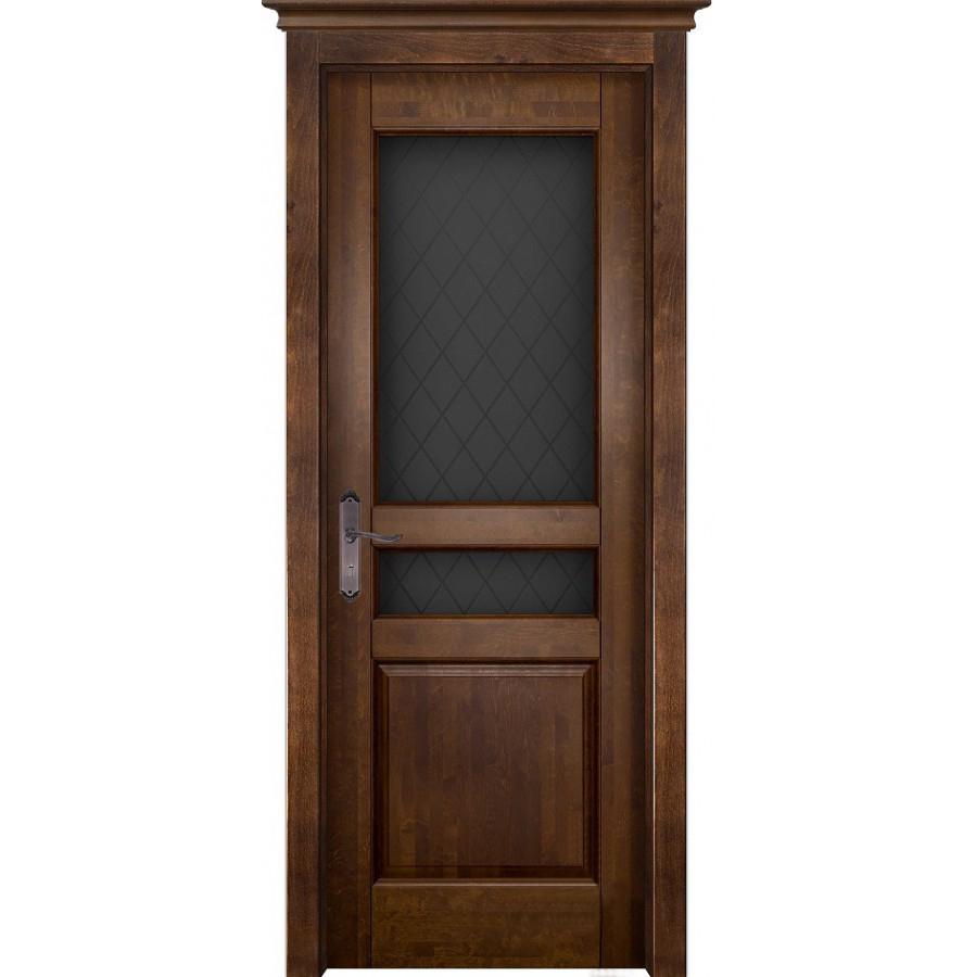 Межкомнатные двери Межкомнатная дверь массив ольхи ОКА Валенсия античный орех остекленная venecia-po-ant-oreh.jpg