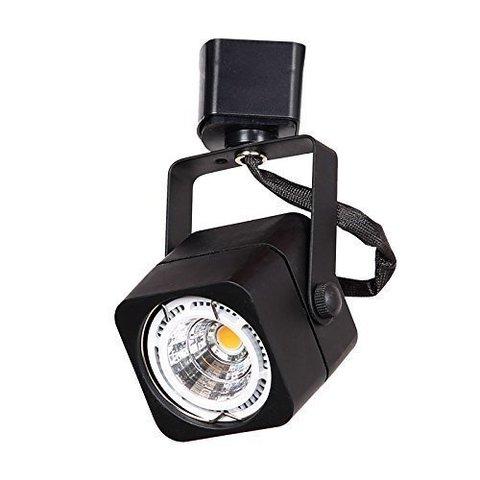Квадратный трековый светильник под лампу MR16 GU5.3 (черный)