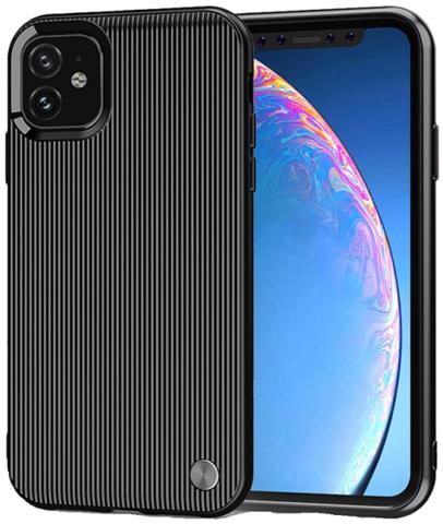 Чехол Carbon для iPhone 11 серия Вертикаль | черный