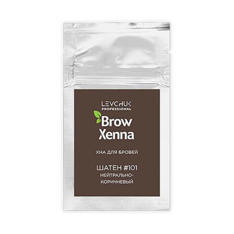 Хна для бровей BrowXenna (№101, нейтрально-коричневый) саше 6гр