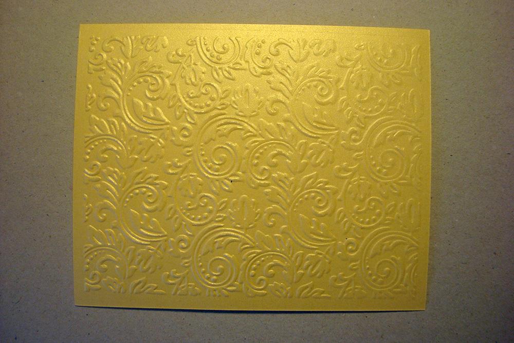 Бумага с тиснением Узоры, золото