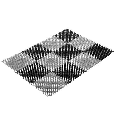 Коврик ТРАВКА, черно-серый, без подложки, 42*56 см