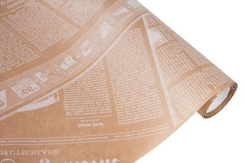Бумага крафт 40гр/м2, 70см x 10м, Газета, белый