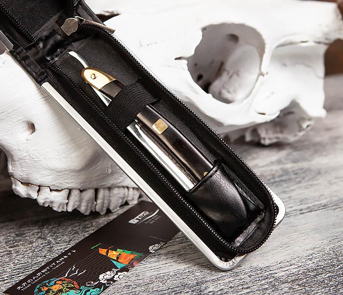 RAZ417 Опасная бритва Titan с деревянной рукояткой фото 03