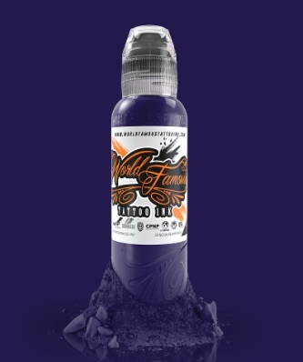 "Краска World Famous Tattoo Ink ""Amsterdam Purple"" 1/2 унции - 15 мл"