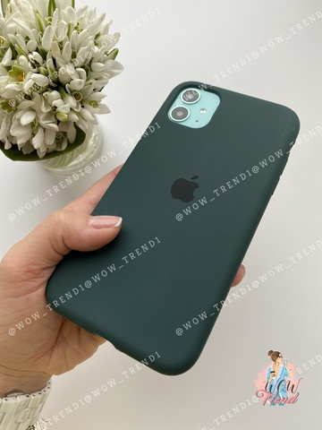 iPhone 11 Silicone Case Full /forest green/