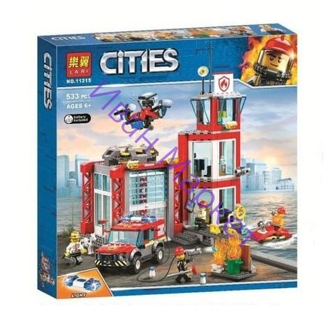 Сити 11215  Пожарное депо 533 дет. Конструктор