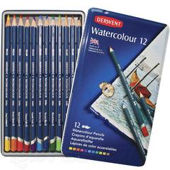 Набор из 12 акварельных карандашей Derwent WatercolourКопировать товар