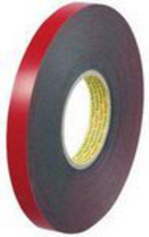 Скотч двусторонний вспененный 3М VHB 4611F, тёмно-серый,  акрилатный, толщина - 1,1 мм