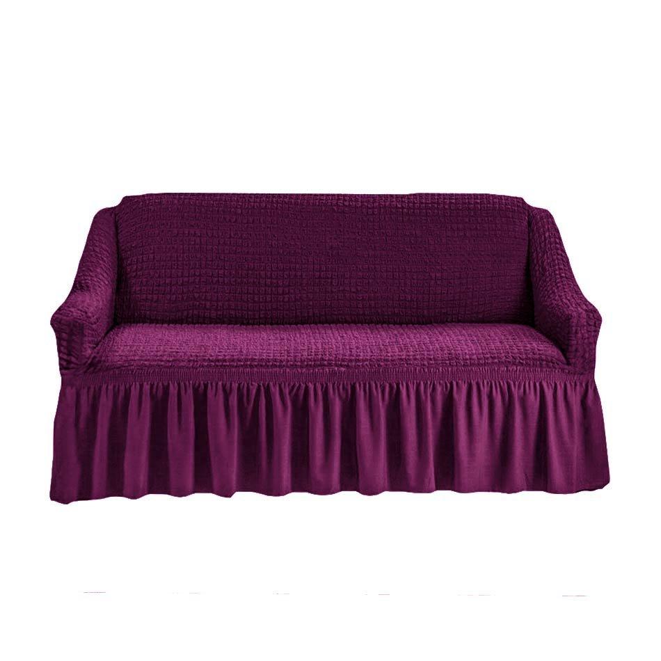 Чехол на двухместный диван, фиолетовый