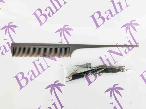 Расчёска профессиональная карбоновая антистатическая с передвижными зубчиками YB1-805