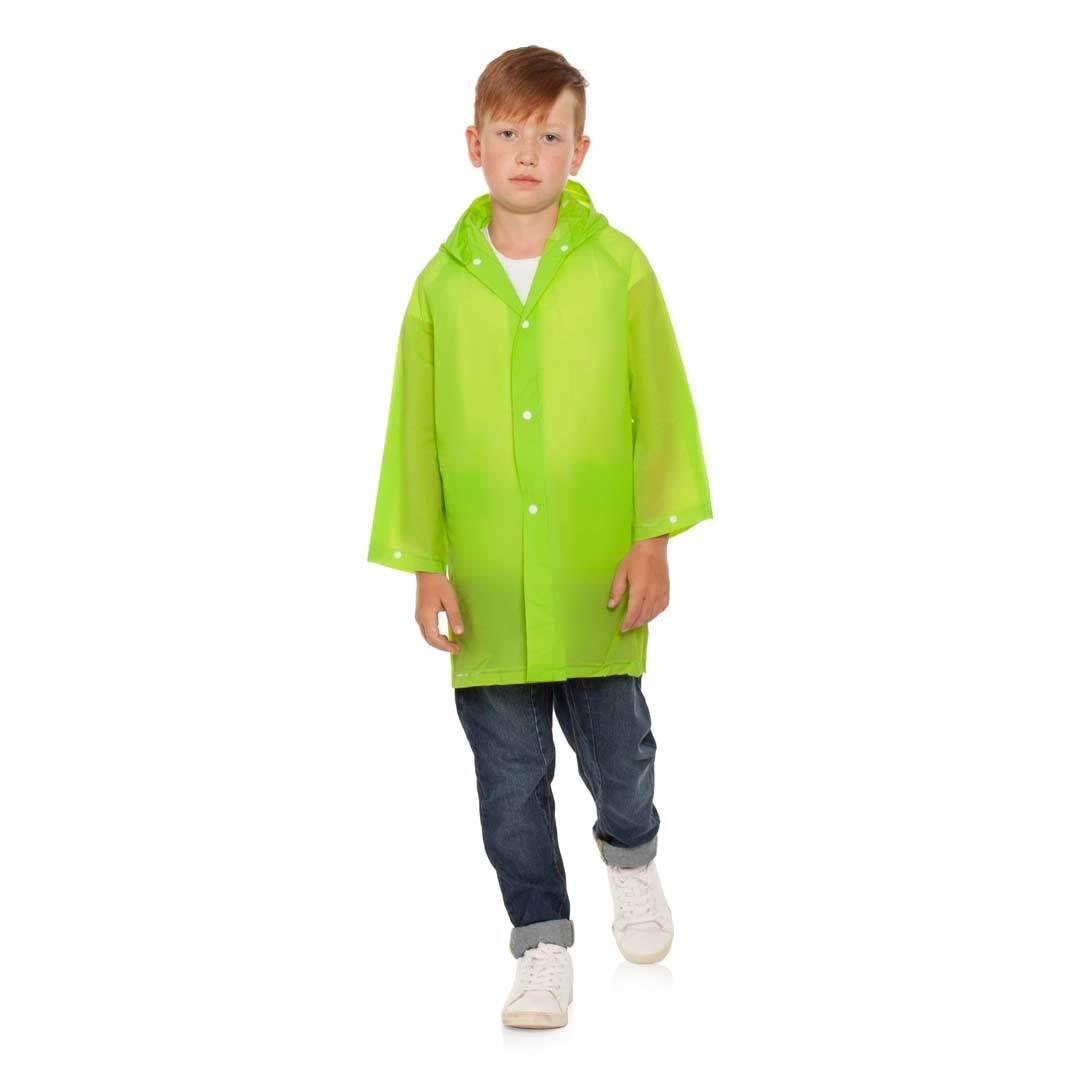 Плащ дождевик детский зеленый