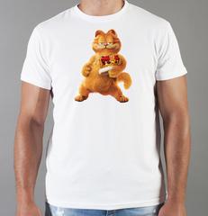 Футболка с принтом Кот, Кошка, Котенок (кошки) белая 0072