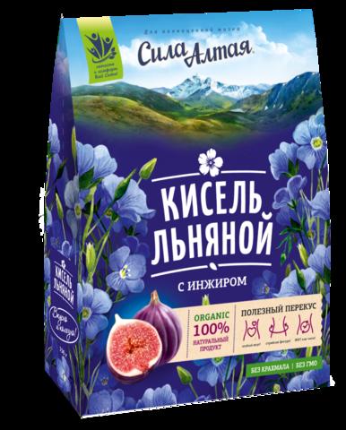 СИЛА АЛТАЯ Кисель льняной с инжиром, 150 г