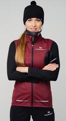 Женский элитный лыжный жилет Nordski Pro Wine
