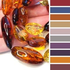 с какими цветами одежды сочетаются бусы из разноцветного янтаря