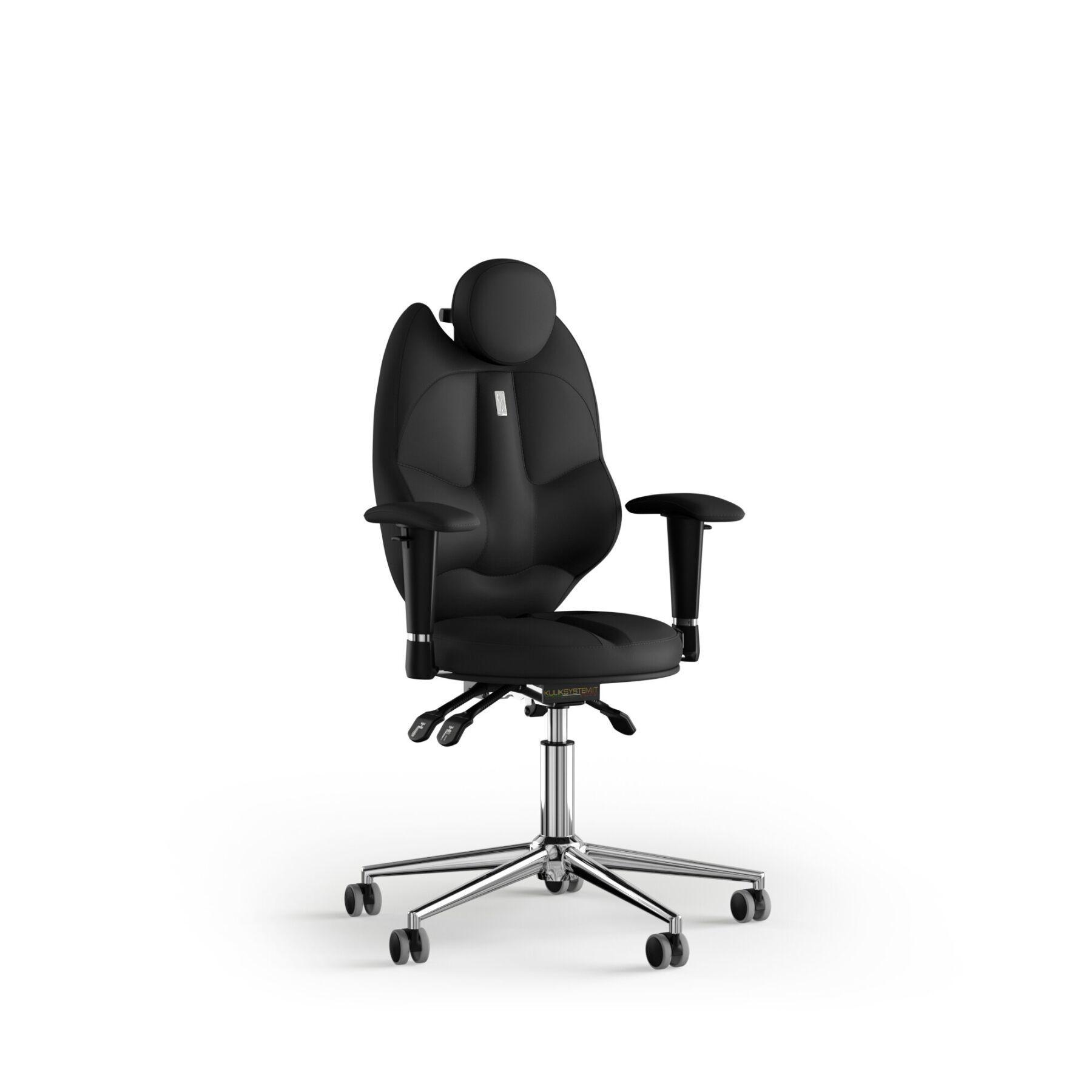 Кресло KULIK SYSTEM TRIO Экокожа с подголовником без строчки