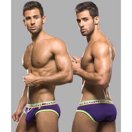 Мужские трусы брифы фиолетовые Andrew Christian Teaser Brief Violet   AC9755
