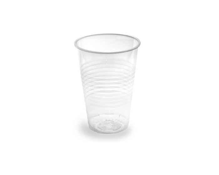 Одноразовый прозрачный стакан 200 мл