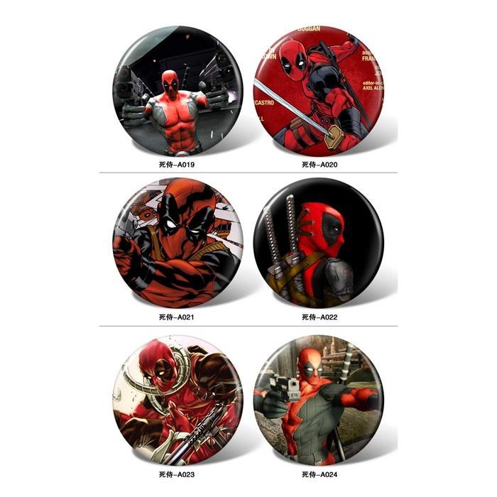 Deadpool pattern Badge