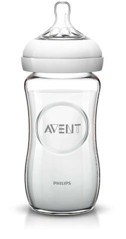 Avent. Бутылочка для кормления Philips Avent Natural стекло 1 мес.+, 240 мл