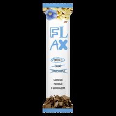 """Батончик """"Flax"""" рисовый с шоколадом 20г"""