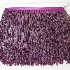 Купить оптом бахрому из стекляруса Amethyst в интернет-магазине