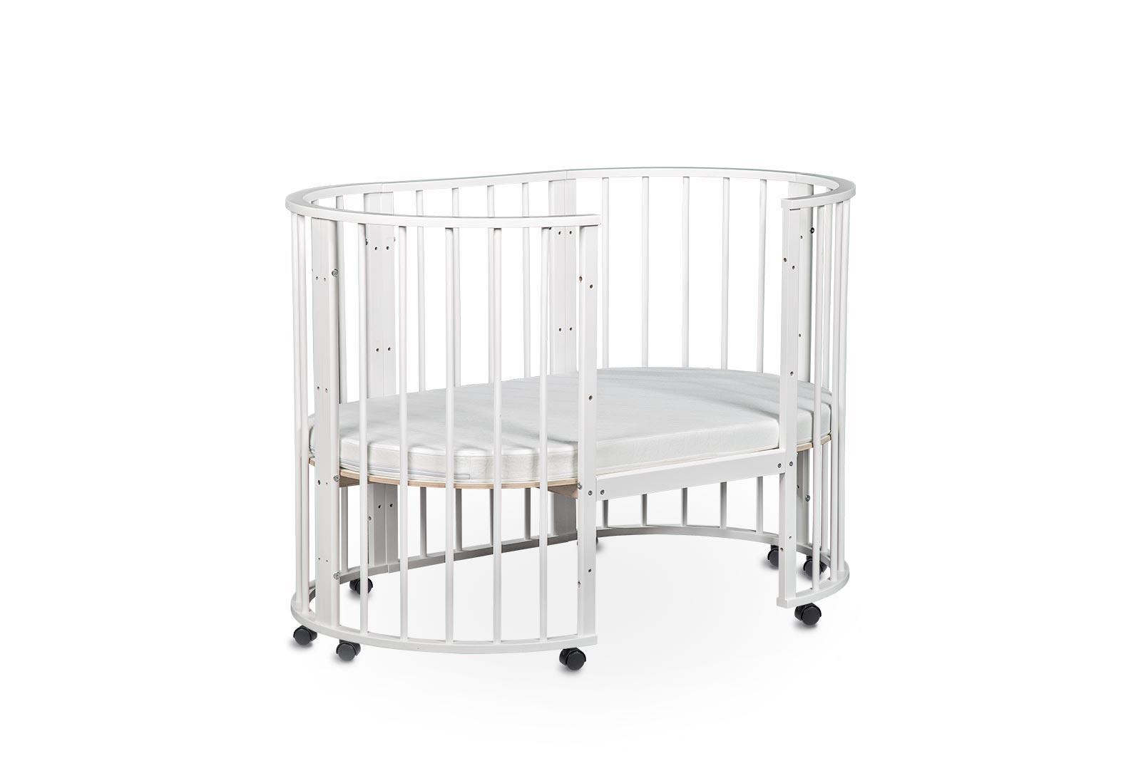 Кроватка для новорожденных трансформер Sleepy 8 в 1 без маятника Бежевый