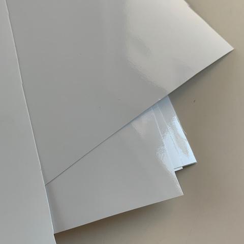 Отрез винила, глянец белый, размер 25х25см,