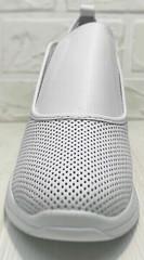 Белые сникерсы кроссовки без шнурков женские смарт кэжуал летние Derem 1761-10 All White.