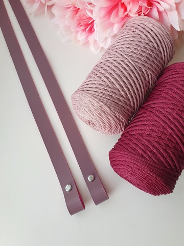 Ручки для сумок на винтах (2 шт)  60 см цвет Сирень