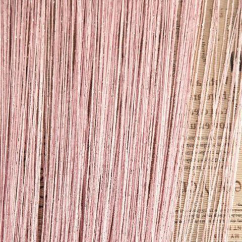 Шторы дождь однотонные - Розовые. Ш-300см., В-280см. Арт. 5
