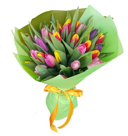 Букет микс из 35 тюльпанов 2