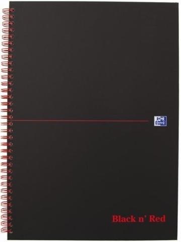Блокнот Black n' Red A4 (21*29.7см) клетка 70л спираль твердая обложка
