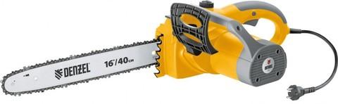Пила цепная электрическая ELS-2000 с поперечным двигателем 16, 40 см, 13,5 м/с Denzel