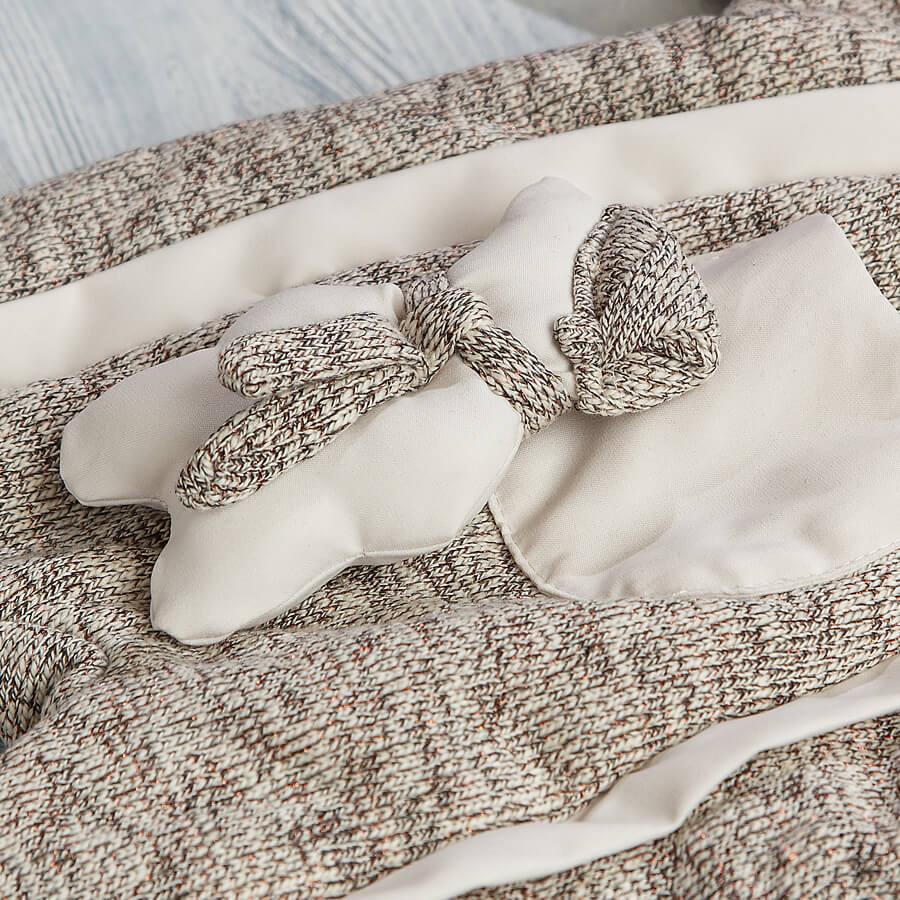 Комбинезон вязаный для новорожденных