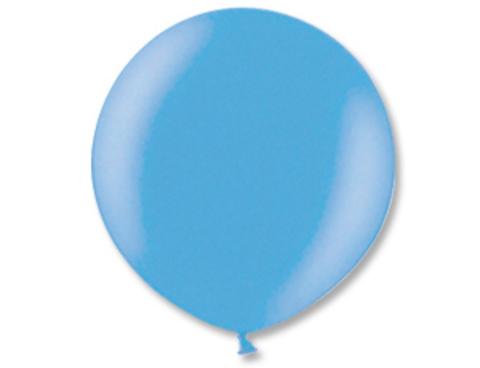 Большой воздушный шар металлик голубой