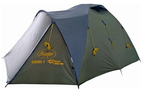 Палатка Canadian Camper KARIBU 2, цвет forest, вид сбоку.