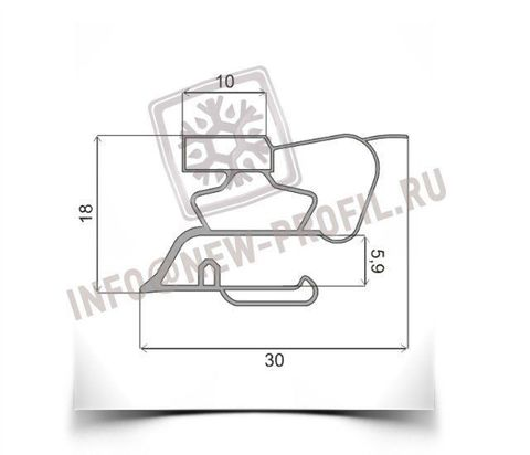 Уплотнитель для холодильника ALASKA HR-233-1 х.к. 1000*550 мм (015)