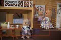 Загородный домик Happy family 012-03 с полным комплектом мебели и семейкой котиков