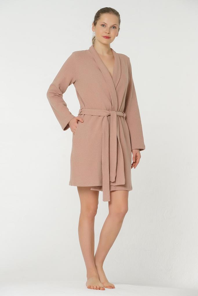 Короткий теплый женский халат Valery