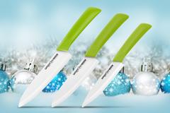 SKC-003G Набор из 3 керамических кухонных ножей Samura Eco-Ceramic