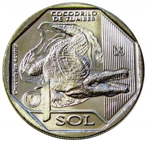 1 соль 2017 - Острорылый крокодил (серия Красная книга Перу).
