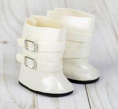 Обувь для кукол, сапоги с застежками, 7 см по подошве, 1 пара.