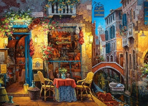 Алмазная Мозаика 40x50 Ужин в Венеции (арт. MGL8080 )