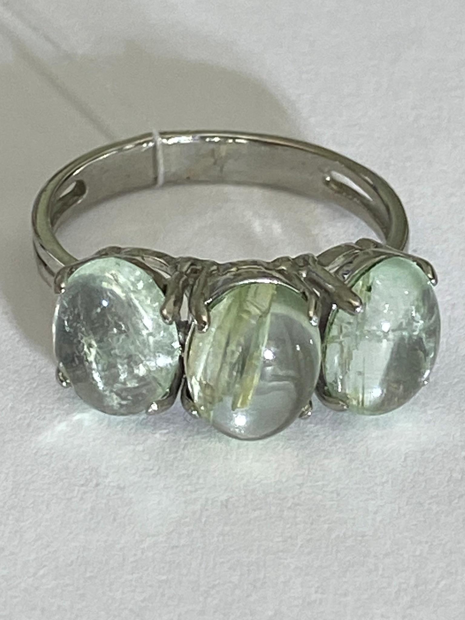 Дези-аквамарин (кольцо из серебра)